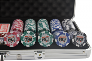 Set poker cu 500 chips-uri clay integral model WSOP si servieta din aluminiu3