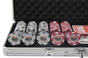 Set poker cu 500 chips-uri clay integral model WSOP si servieta din aluminiu2