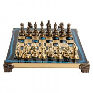 Set sah piese si tabla din metal - Imperiul Bizantin( albastru) [0]