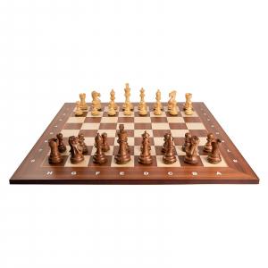 Piese sah lemn Staunton 6 Tournament cu tabla de sah arin, 55mm2
