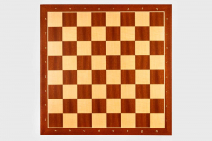 Tabla de sah no. 6, lemn mahon, 50 x 50 cm, patrat 55 mm - Rechapados [0]