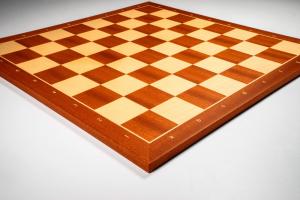 Tabla de sah no. 6, lemn mahon, 50 x 50 cm, patrat 55 mm - Rechapados1
