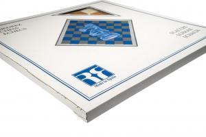 """Tabla de sah no.6, lemn wenge, 55x55 cm, patrat 55 mm, Barcelona """"Deluxe""""5"""