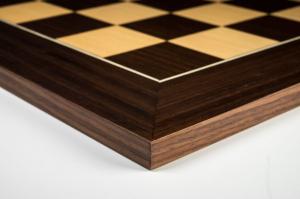 """Tabla de sah no.6, lemn de macassar, 55x55 cm, patrat 55 mm, """"Deluxe""""2"""