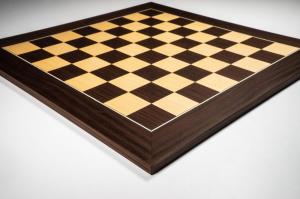 """Tabla de sah no.6, lemn de macassar, 55x55 cm, patrat 55 mm, """"Deluxe""""0"""