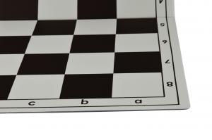 Tabla de sah pliabila PVC (alb-maro) 57 mm1