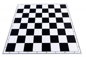 Tabla de sah pliabila PVC (alb-negru) 57 mm