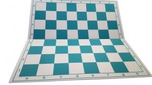 Tabla de sah pliabila PVC (alb-verde) 57 mm1