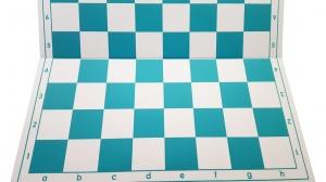Tabla de sah pliabila PVC (alb-verde) 57 mm0