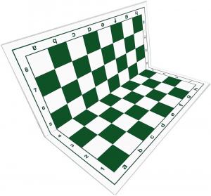 Tabla de sah pliabila PVC (alb-verde) 57 mm2