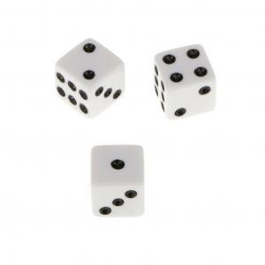 Zar 9 mm pentru jocul de Table, set 2 bucati