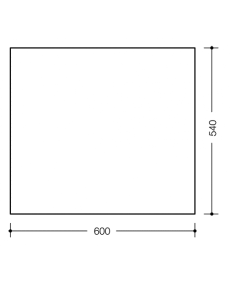 Oglinda Hewi 600x540x6 mm-big