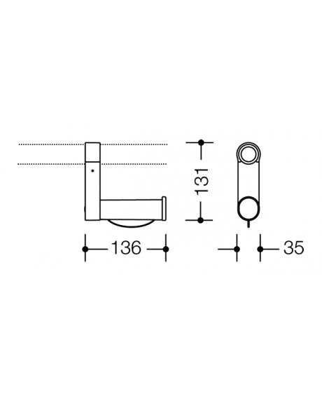 Suport poliamida hartie igienica (upgrade bara fixa) Hewi-big