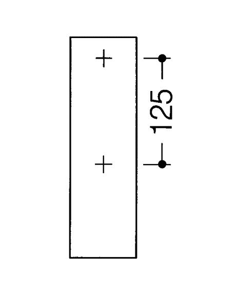 Bara rabatabila vertical sprijin lateral cu buton functie flush-big