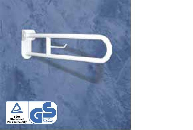 Bara rabatabila 70/80 cm cu fixare pe placa si suport hartie igienica-big