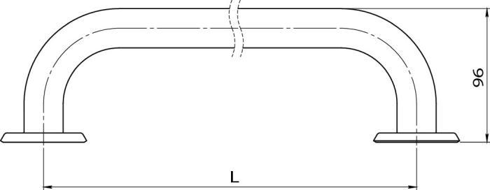 Bara simpla fixa otel alb 30 cm R6630.11-big