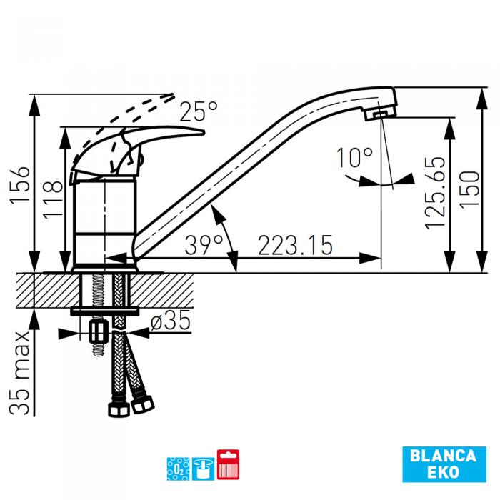 Baterie bucatarie BCB4 Blanca Eko