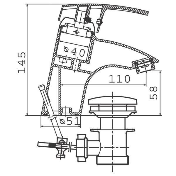 Baterie lavoar BTC2 Capri-big