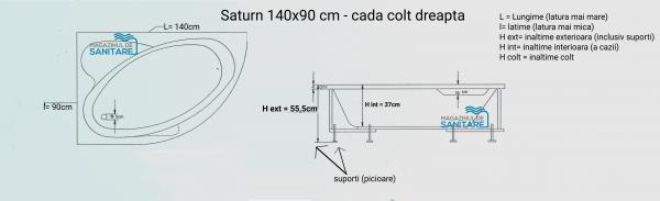 Cada 140x90 cm asimetrica Saturn-big