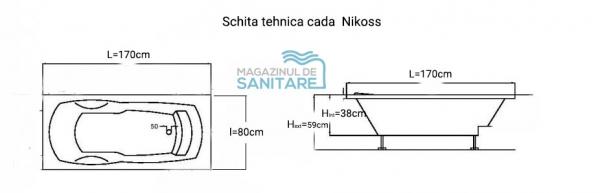 Cada 170x80 cm Nikoss cu tetiera-big