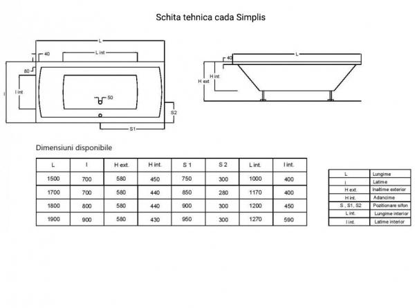 Cada 180x80 cm Simplis-big