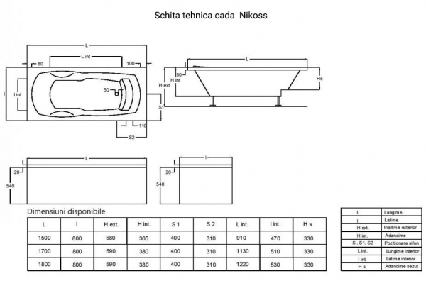 Cada 150x80 cm Nikoss cu tetiera-big
