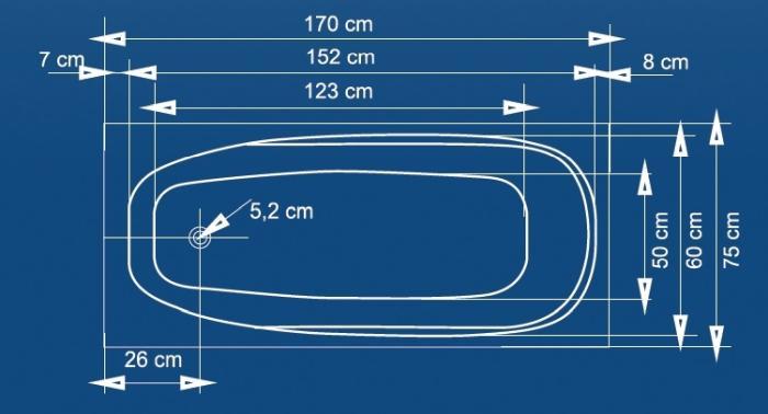 Cada 170x75 cm Linea Maxi-big