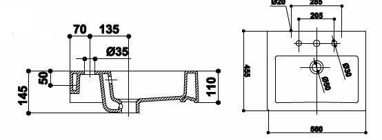 Lavoar 560 x 455 mm Dalia-big