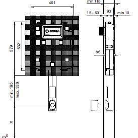 Rezervor ingropat pt. vase WC pe podea Wisa-big