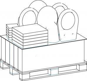Set rezervor + vas WC Wisa pack-big