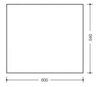Oglinda Hewi 600x540x6 mm2