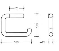 Suport hartie igienica 160x120 mm Hewi2