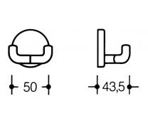 Cuier dublu poliamida 43,5x50mm Hewi2