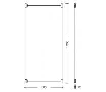 Oglinda dreptunghiulara sticla 1200x600x6mm Hewi1