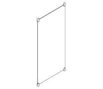 Oglinda dreptunghiulara sticla 1200x600x6mm Hewi2