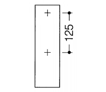 Bara rabatabila vertical sprijin lateral cu buton functie flush3