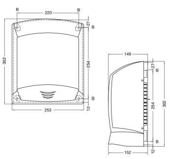Uscator de maini cu senzor, ABS, AIR-WOLF1