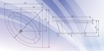 Cada colt simetrica 140x140 cm Fiji1