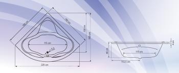 Cada colt simetrica 160x160 cm Massimo1