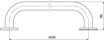 Bara simpla alba 60 cm R6660.11 1