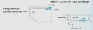 Cada 150x100 cm Extensy cu suprafata anti-alunecare5