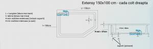 Cada 150x100 cm Extensy cu suprafata anti-alunecare2