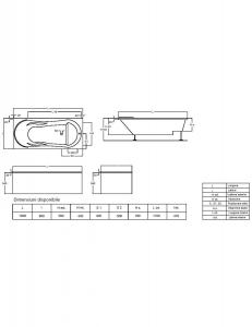 Cada 180x80 cm Comodus cu suprafata anti-alunecare4