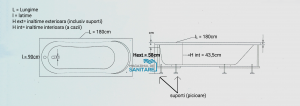 Cada 180x80 cm Hercules cu suprafata anti-alunecare3