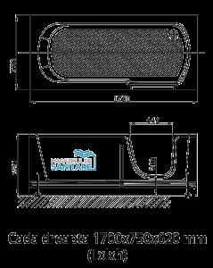 Cada baie dizabilitati dreapta 170x75x62 cm1