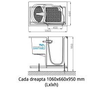 Cada baie dizabilitati dreapta 106x66x95 cm1