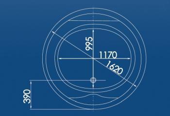 Cada rotunda Ø162 cm Balt1