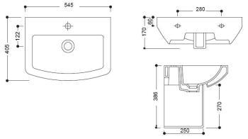 Lavoar 545 x 405 mm Jade GV210 Sanotechnik1