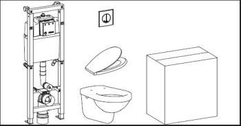Set WC cu rezervor si vas WC Wisa 11