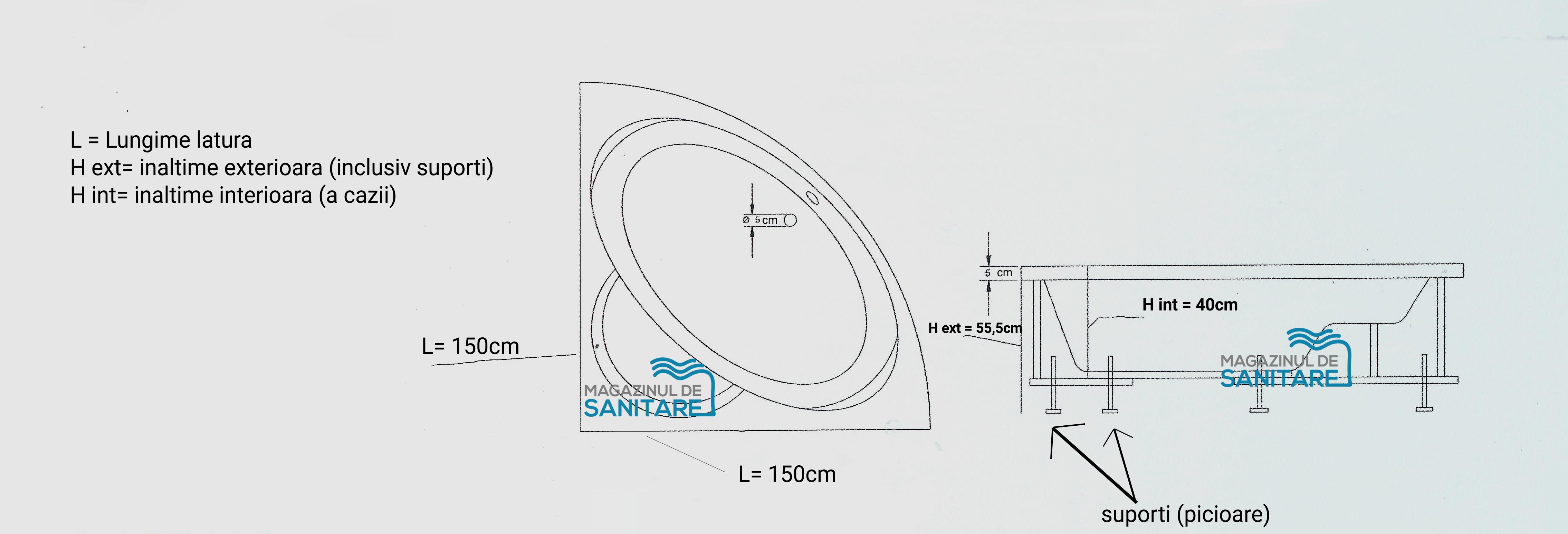 schita tehnica cada 150 150 cm PALAS